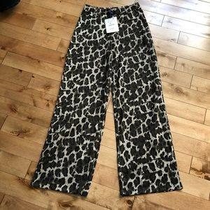 🐯2/40$! Zara leopard/camouflage palazzo pants NWT
